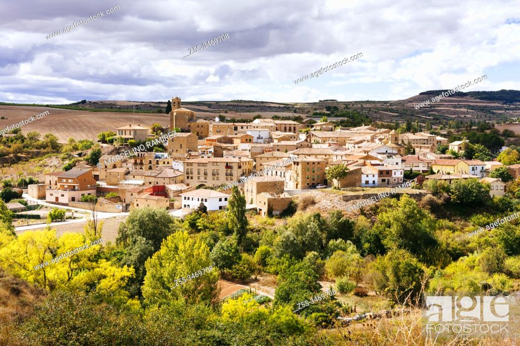 Stock Photo: Torres de Río, French Way, Way of St. James. Navarre, Spain, Europe.