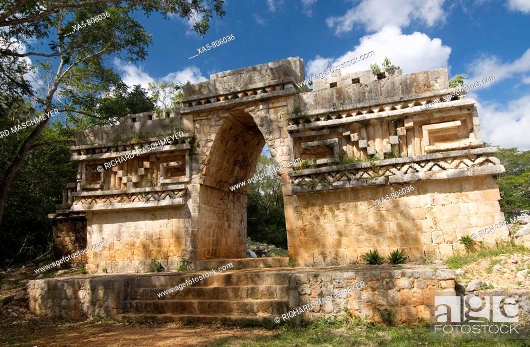 Stock Photo: Mexico, Yucatan, Labna, El Arco.