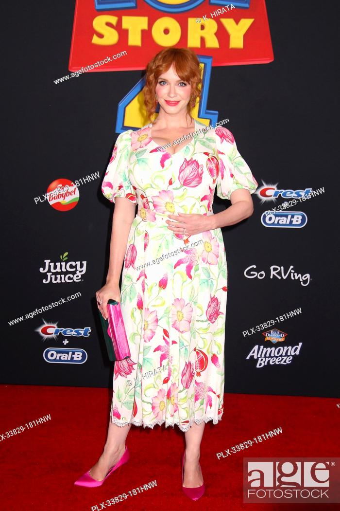 "Stock Photo: Christina Hendricks 06/11/2019 """"Toy Story 4"""" Premiere held at the El Capitan Theatre in Hollywood, CA Photo by K. Hirata / HNW / PictureLux."