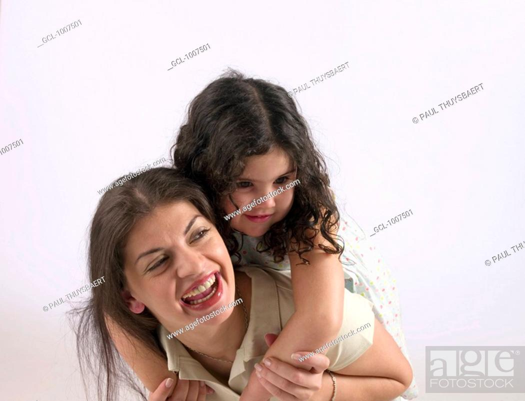 Stock Photo: Mother and daughter having fun.