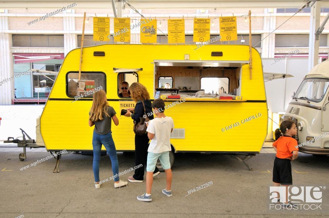 Food truck, Barcelona Degusta, Food exhibition  Barcelona
