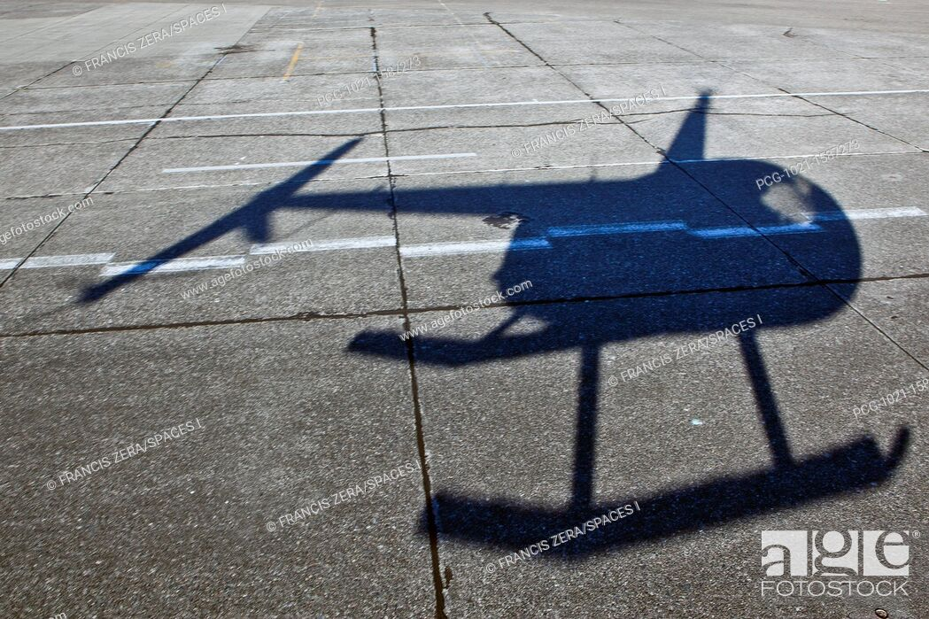 Stock Photo: Helicopter Shadow.