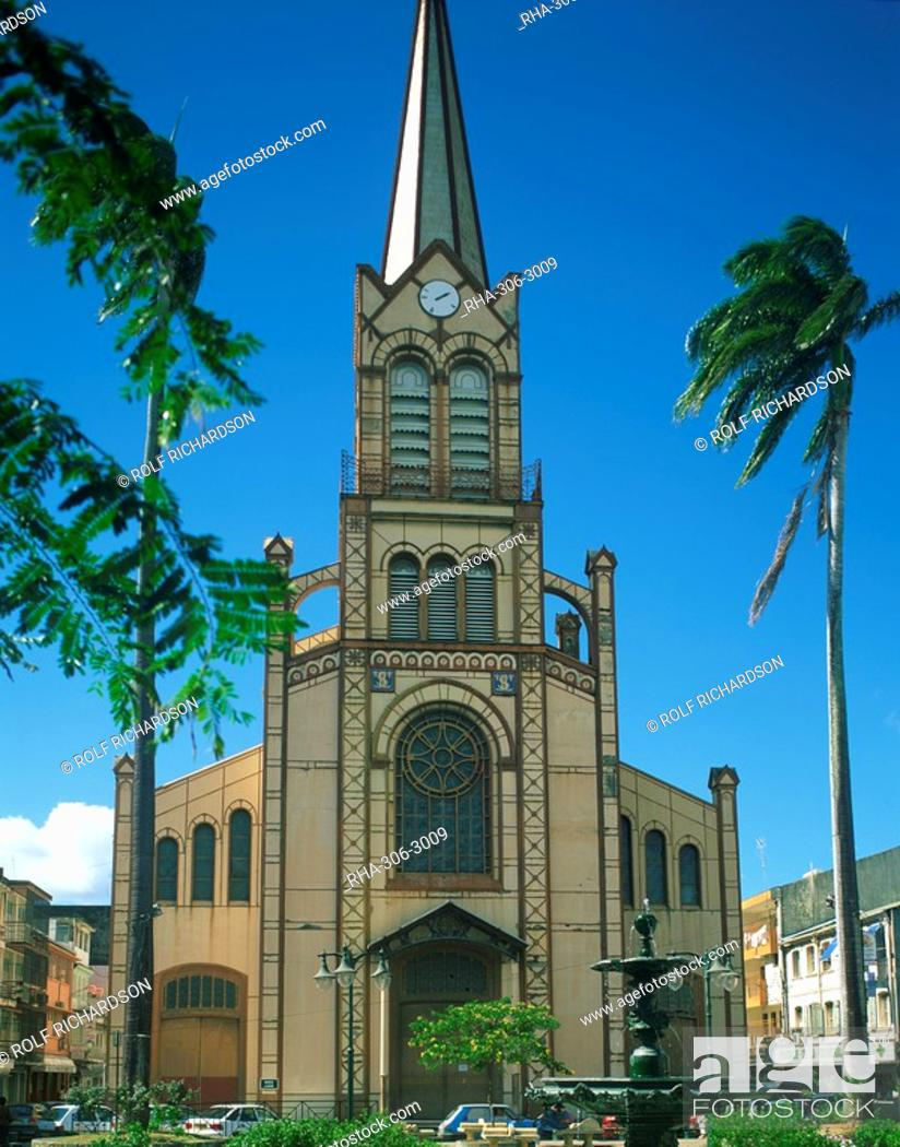 Stock Photo: The cathedral at Fort de France, Martinique, Lesser Antilles, West Indies, Caribbean, Central America.