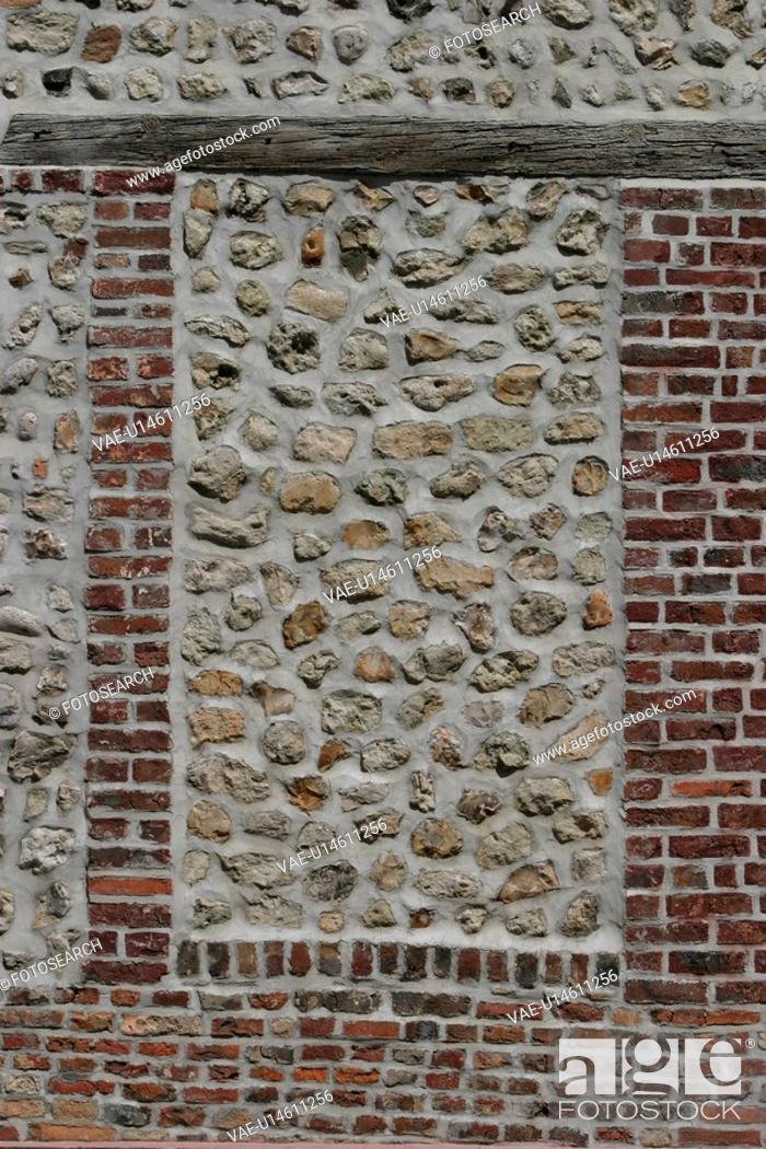 Stock Photo: stone, masonry, wall, texture, earth tones.