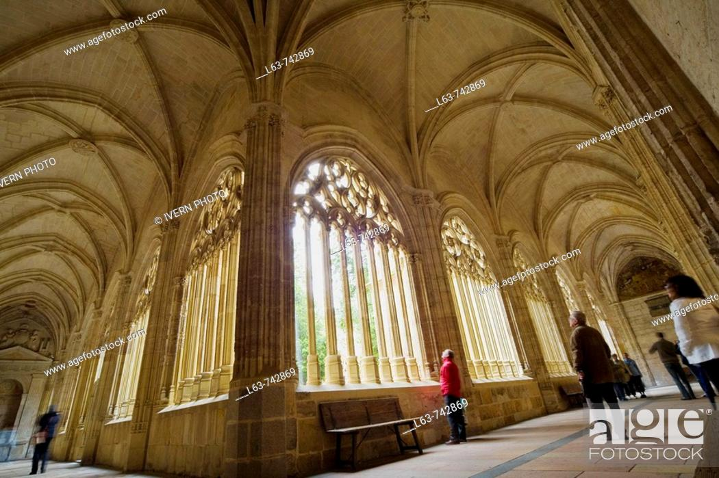 Stock Photo: Cloister of Cathedral, Segovia. Castilla-Leon, Spain.