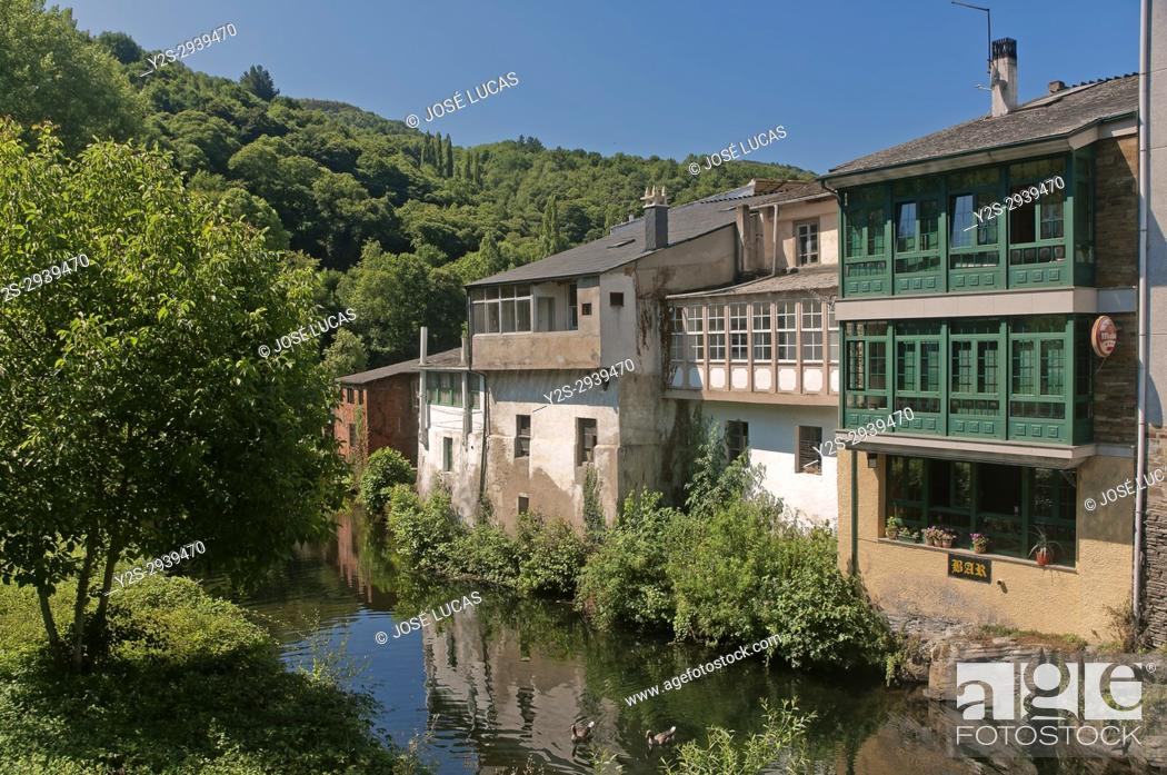 Urban View And Sarria River Samos Lugo Province Region Of Galicia Spain Europe Stock Photo Picture And Rights Managed Image Pic Y2s 2939470 Agefotostock