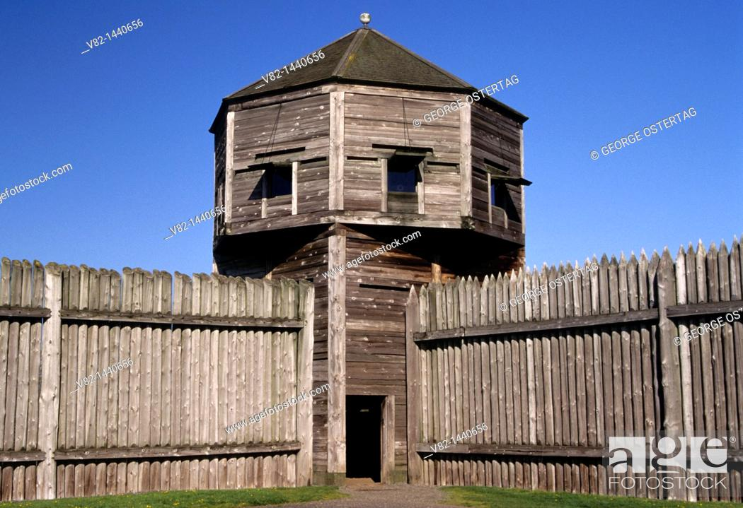 Stock Photo: Bastion, Fort Vancouver National Historic Site, Vancouver National Historic Reserve, WA.