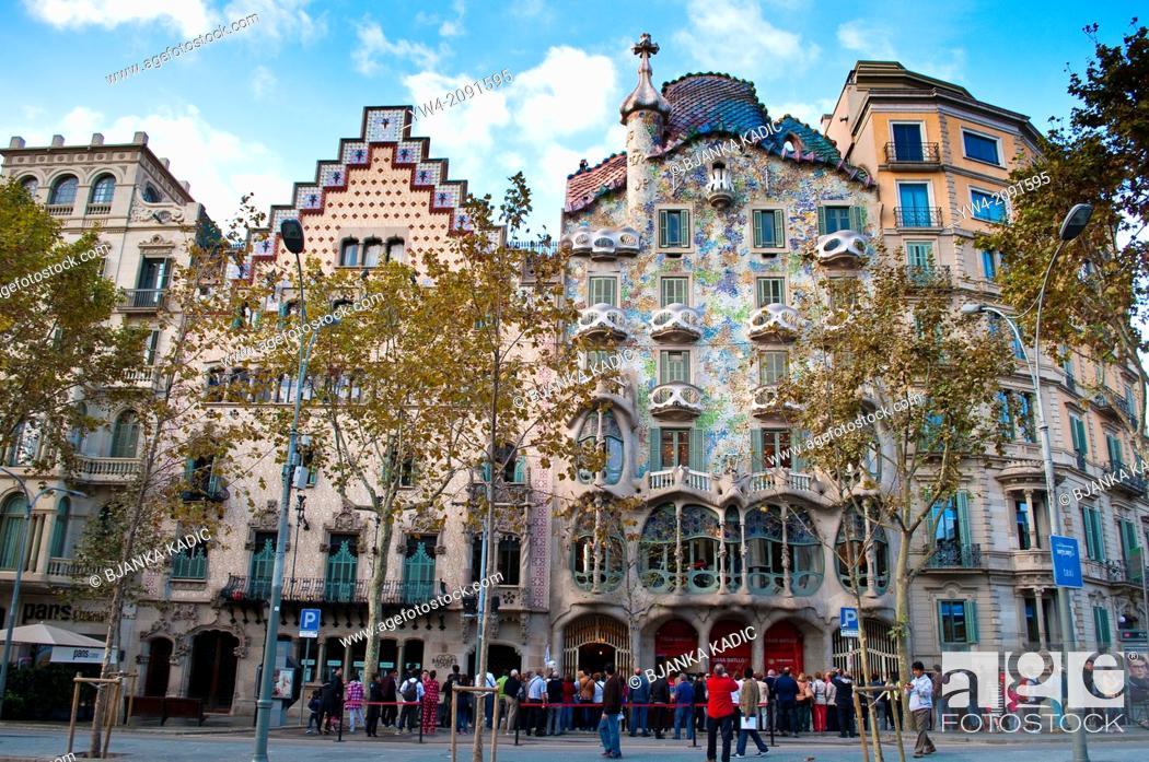 Stock Photo: Casa Batllo, Barcelona, Catalonia, Spain.