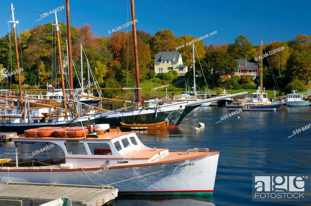 Stock Photo: USA, Maine, Camden.