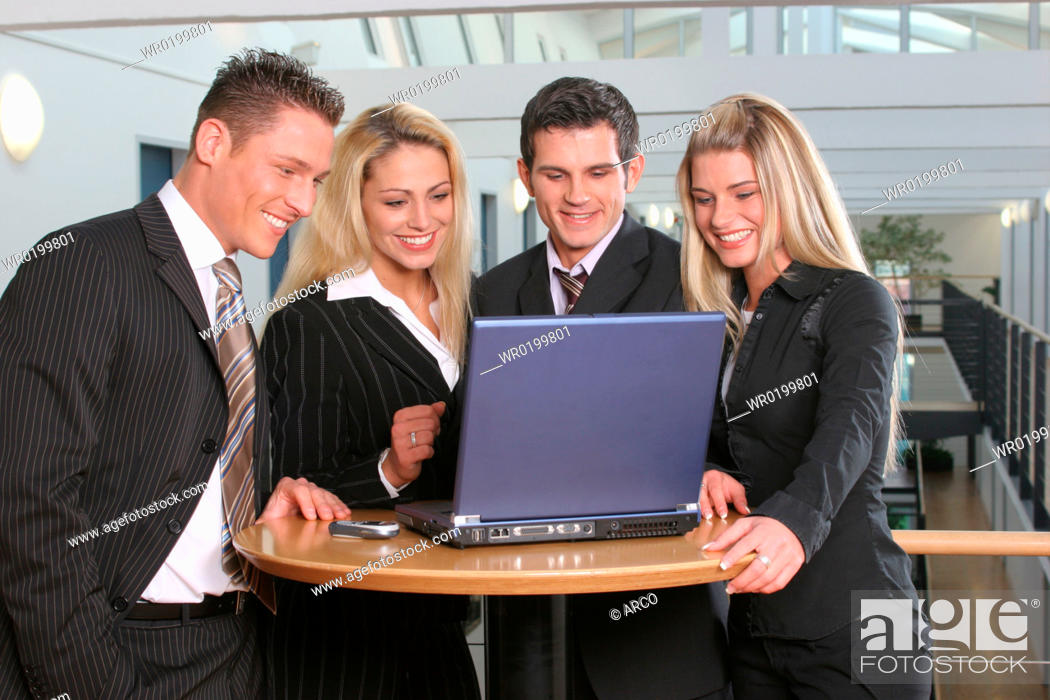 Stock Photo: Young, business, people.