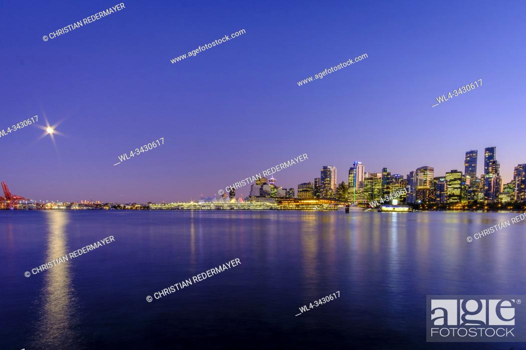 Stock Photo: Beautiful Vancouver during the blue hour.