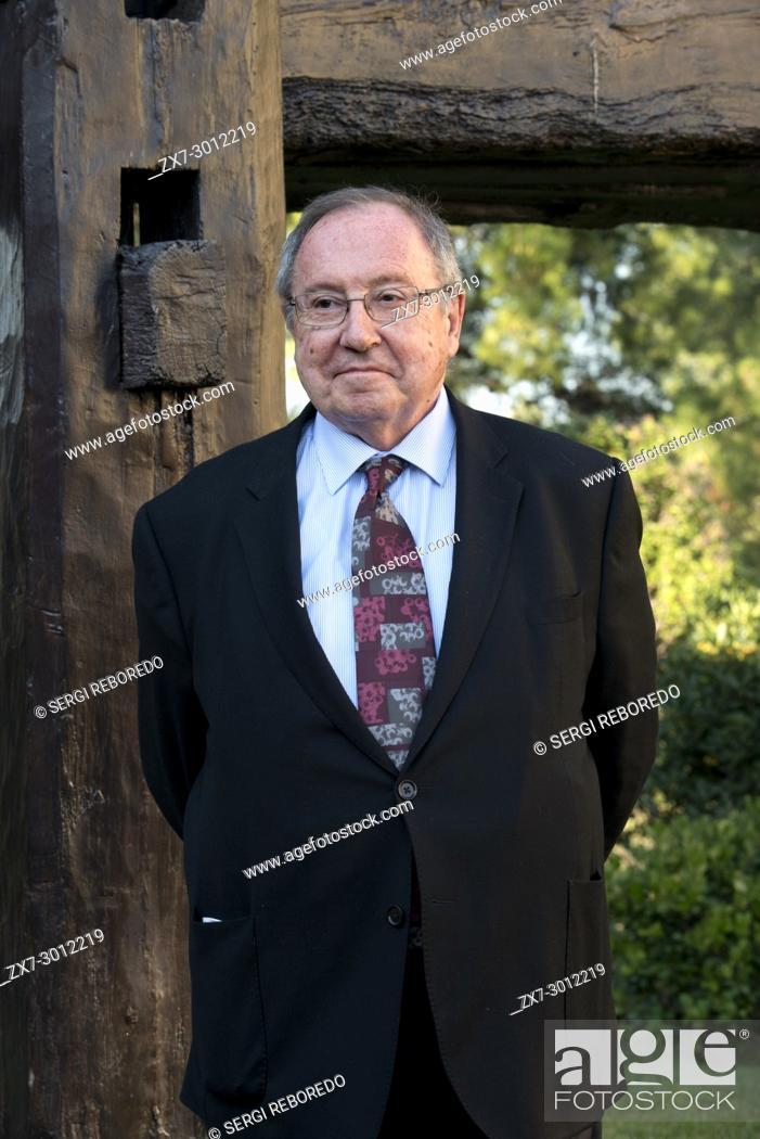Stock Photo: José Luis Bonet, president of the Cavas Freixenet winery. Sant Sadurni d'Anoia, San Sadurni de Noya. Winery building. Catalonia Spain.