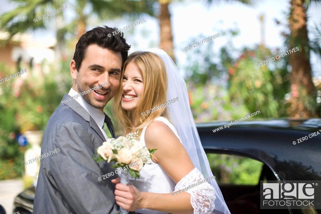 Stock Photo: Bridal couple.