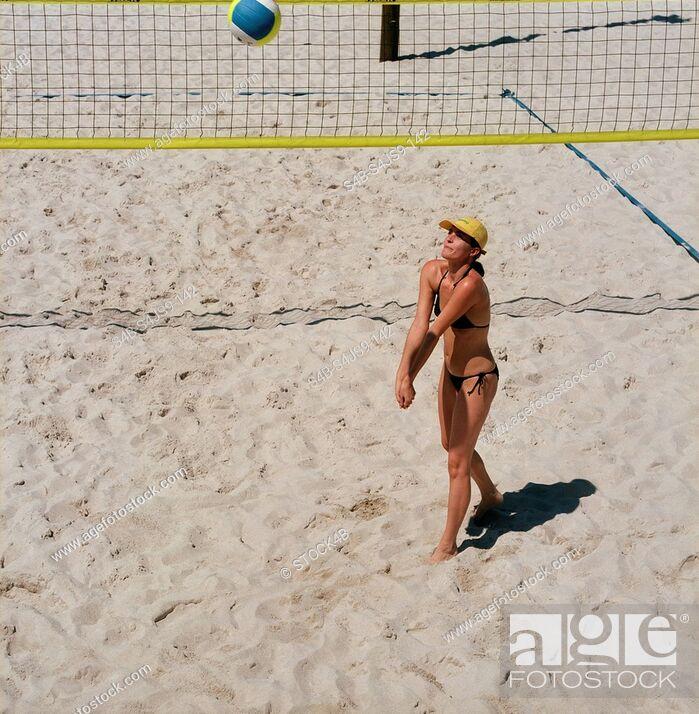Stock Photo: Beach Volley Ball.