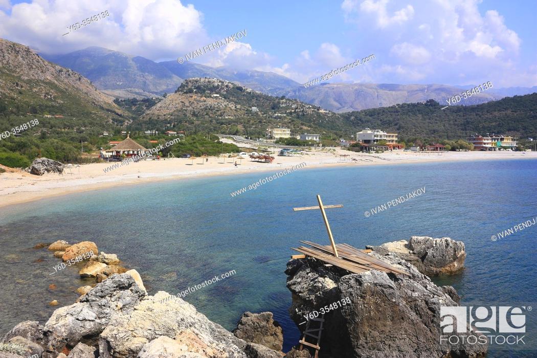 Stock Photo: Himare Beach, Ionian Coast, Albania.
