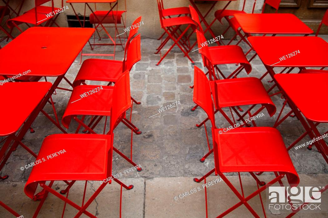 Stock Photo: Chairs and tables.
