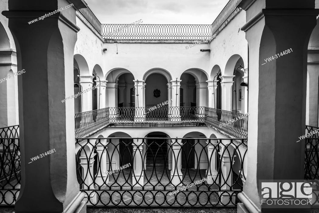 Stock Photo: Spanish colonial architecture, Museum of Oaxacan Painters, Oaxaca, Mexico.