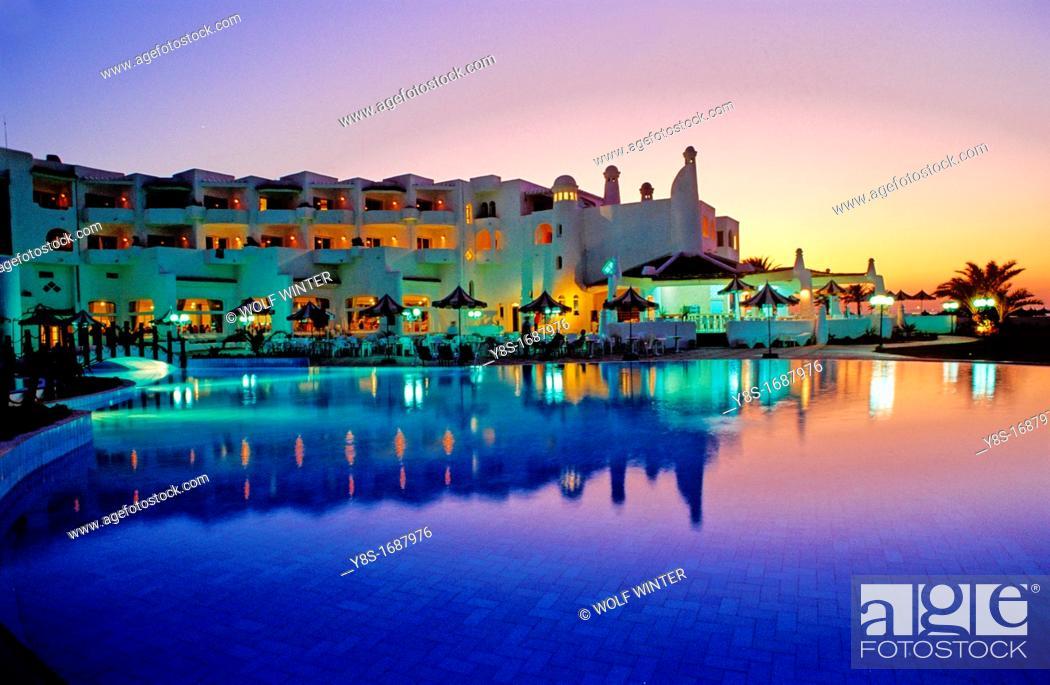 Stock Photo: Skanes Beach Hotel.