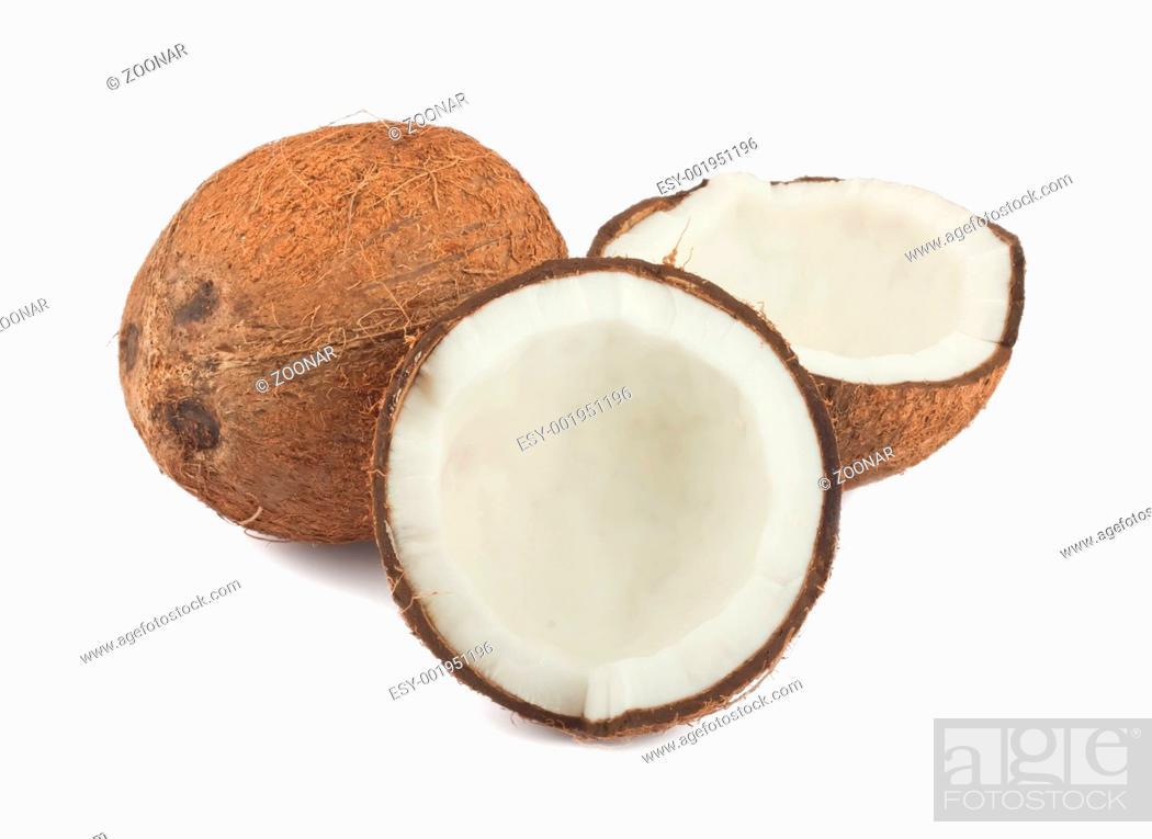 Stock Photo: Fresh coconut.