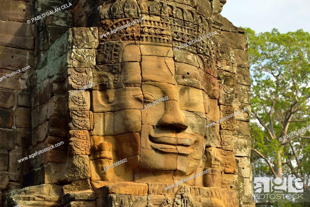Imagen: Bayon temple in Angkor Thom, capital of Angkor Wat complex, Cambodia.