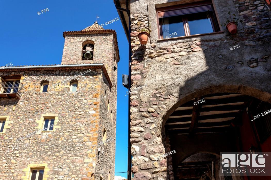 Stock Photo: Esglesia Vella. El Pont de Suert. Lleida, spain.
