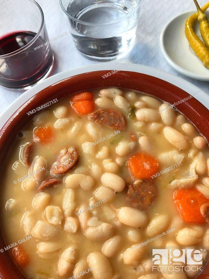 Stock Photo: Beans stew. Spain.