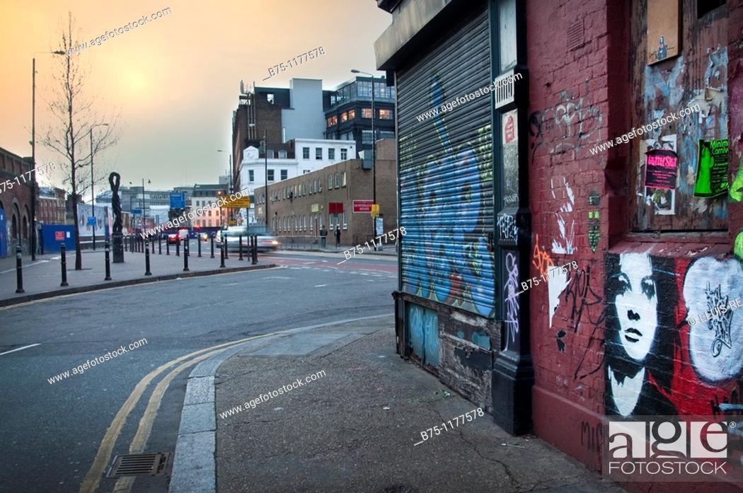 Stock Photo: East End, London, England.