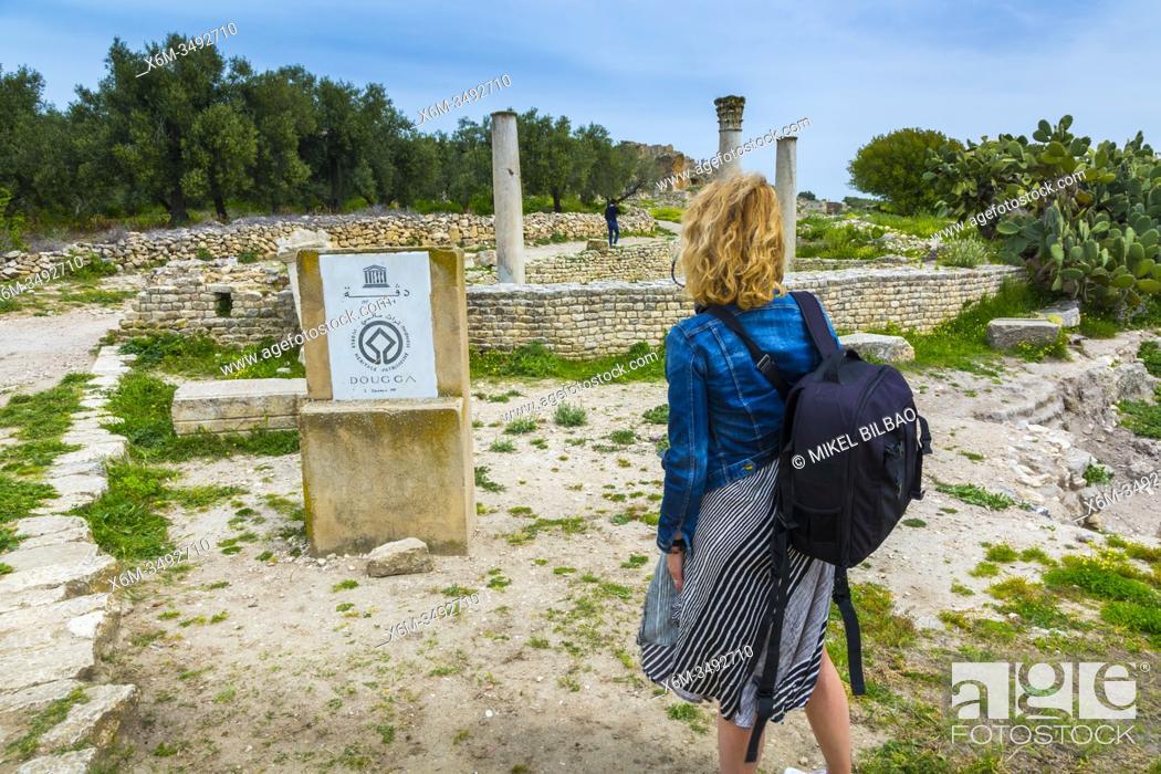 Stock Photo: Dougga Roman city ruins. Tunisia.