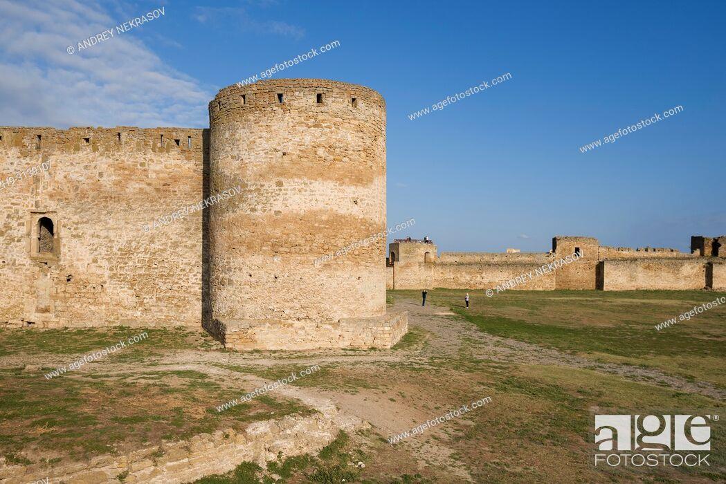 Stock Photo: Unassailable defensive walls and towerh of Fortress Akkerman (White Rock fortress). Belgorod-Dnestrovskiy, Odessa Oblast, Ukraine.