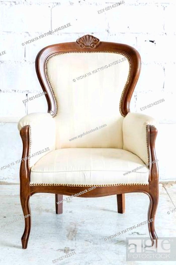 Stock Photo: White Retro Chair.