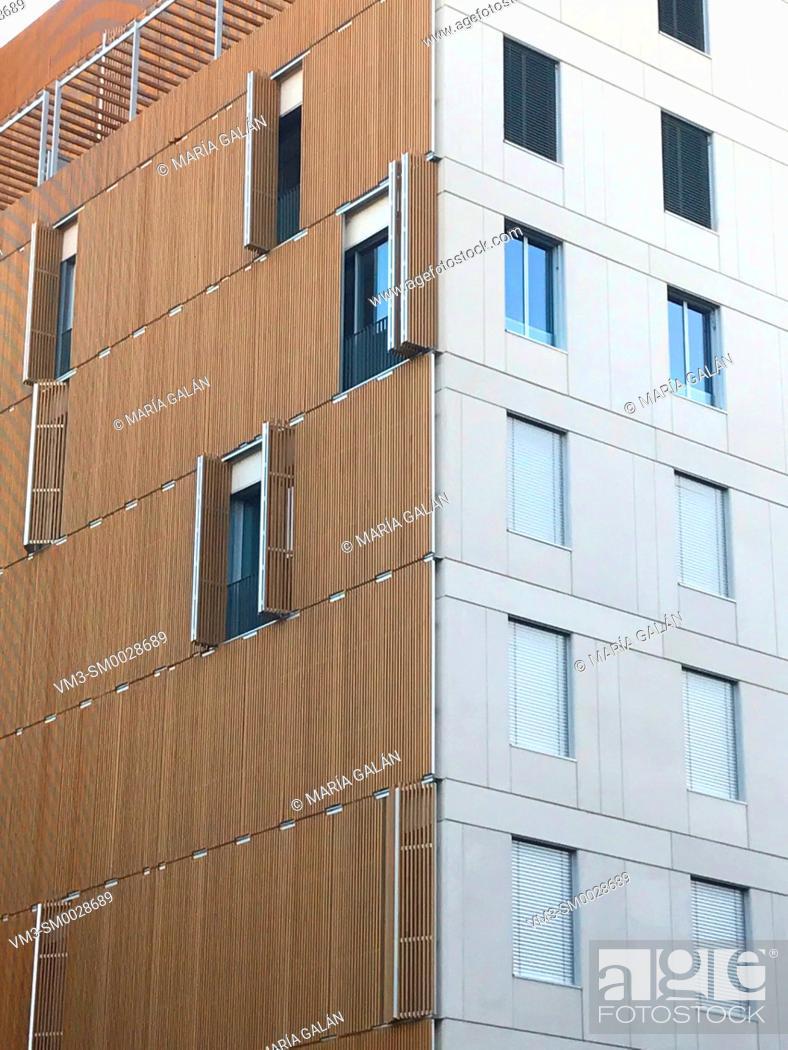 Stock Photo: Facade of modern building. Madrid, Spain.