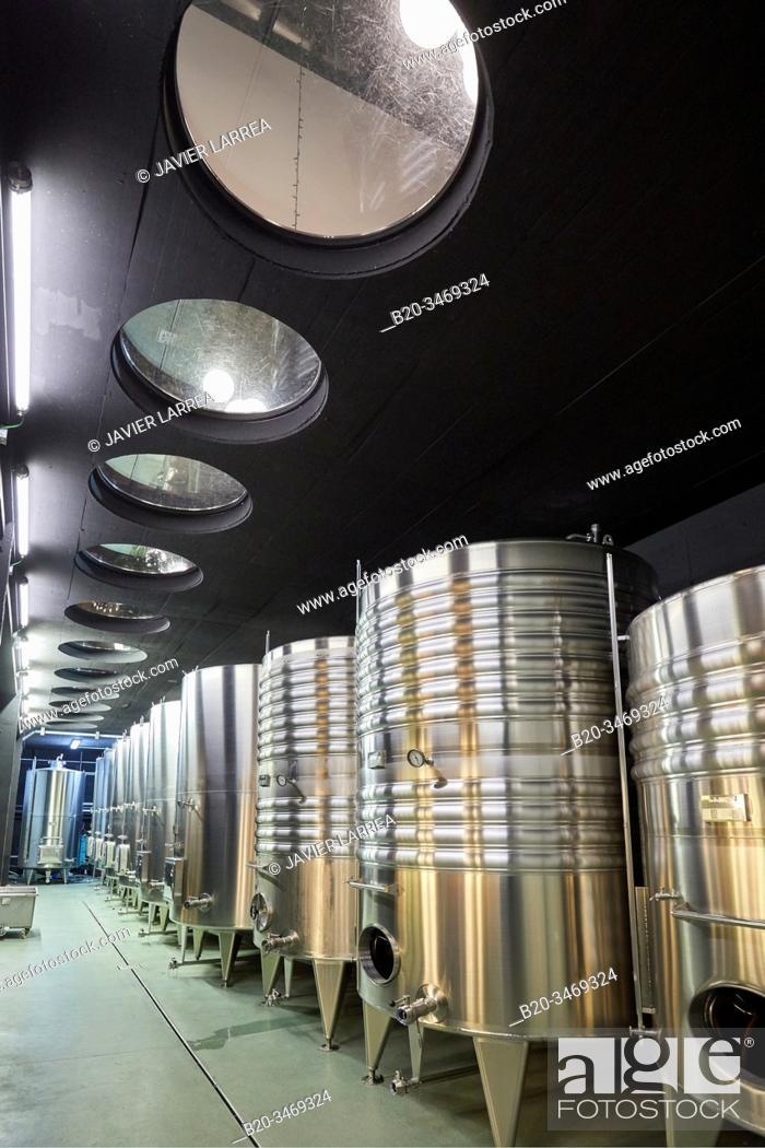 Stock Photo: Txakoli wine, Bodega Katxiña, Orio, Gipuzkoa, Basque Country, Spain, Europe.
