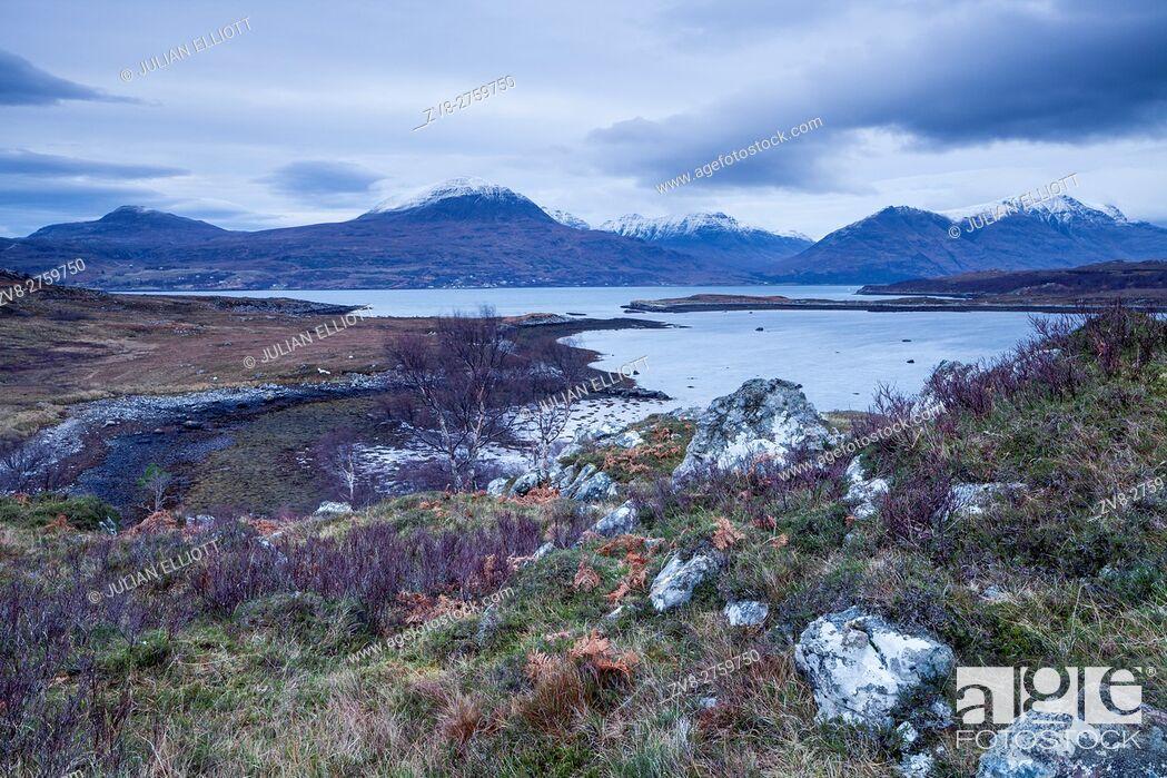 Stock Photo: Upper Loch Torridon in Wester Ross, Scotland.