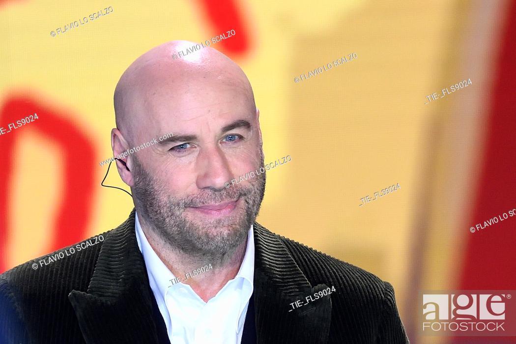 Imagen: The actor John Travolta during the tv show Che tempo che fa, Milan, ITALY-20-10-2019.