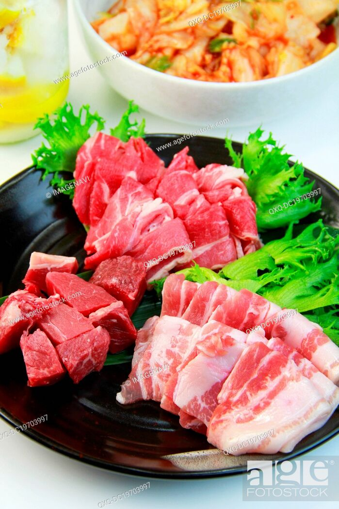 Imagen: Mixed kinds of raw meat.