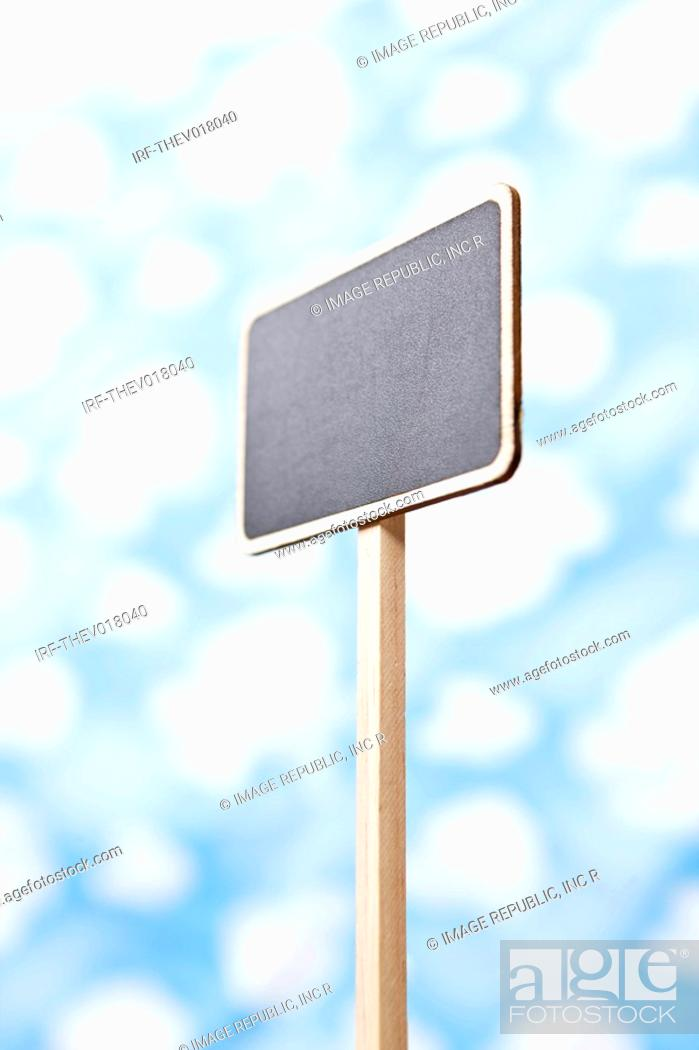 Stock Photo: wallpaper and sign.