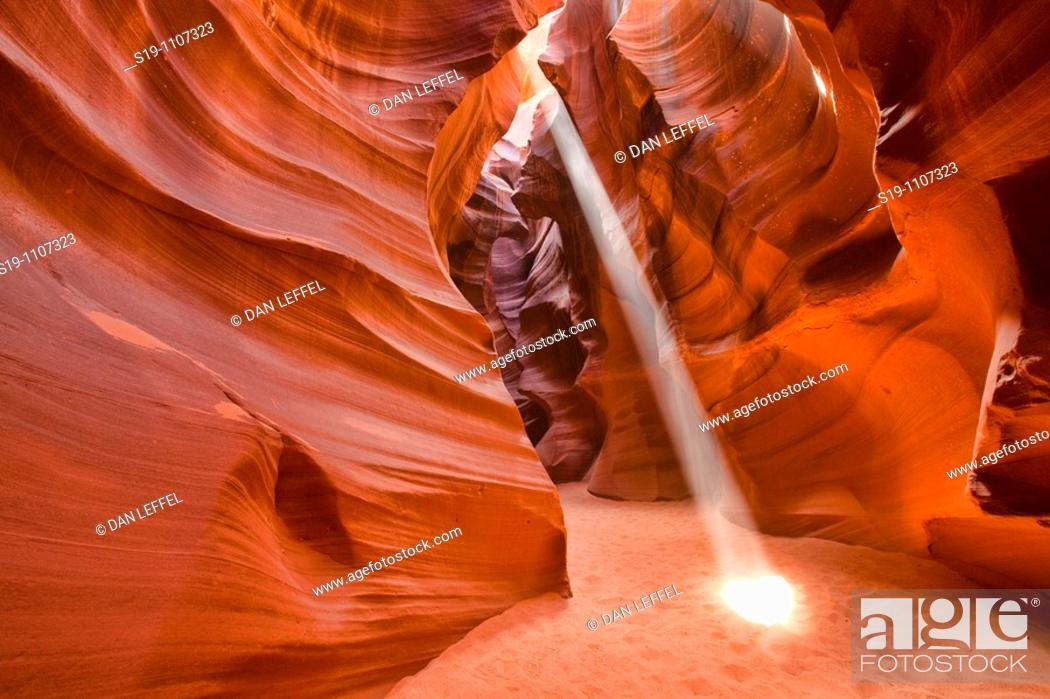 Stock Photo: Upper Antelope Canyon in Arizona.