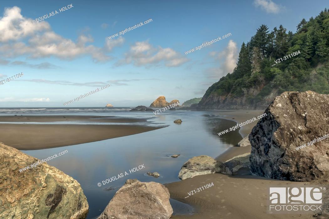 Stock Photo: Moonstone Beach along Costal Highway 101, Trinidad CA, USA.