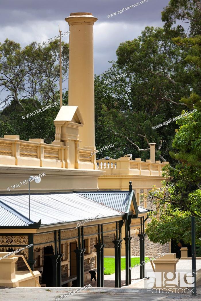 Stock Photo: Australia, South Australia, Barossa Valley, Seppeltsfield, Seppeltsfield Winery, exterior.