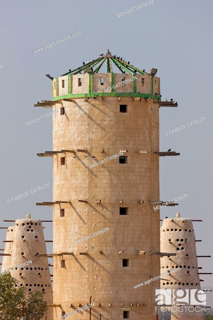 Stock Photo: Qatar - On the road between Al Zubara and Al Khor - Dovecotes.