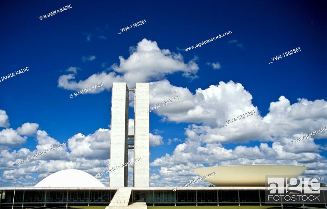 Stock Photo: National Congress, Brasilia, Brazil.