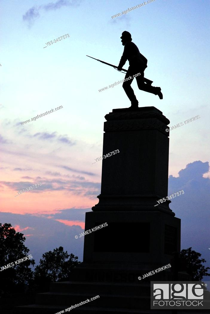 Imagen: A memorial to the First Minnesota Division on the grounds of Gettysburg National Battlefield.