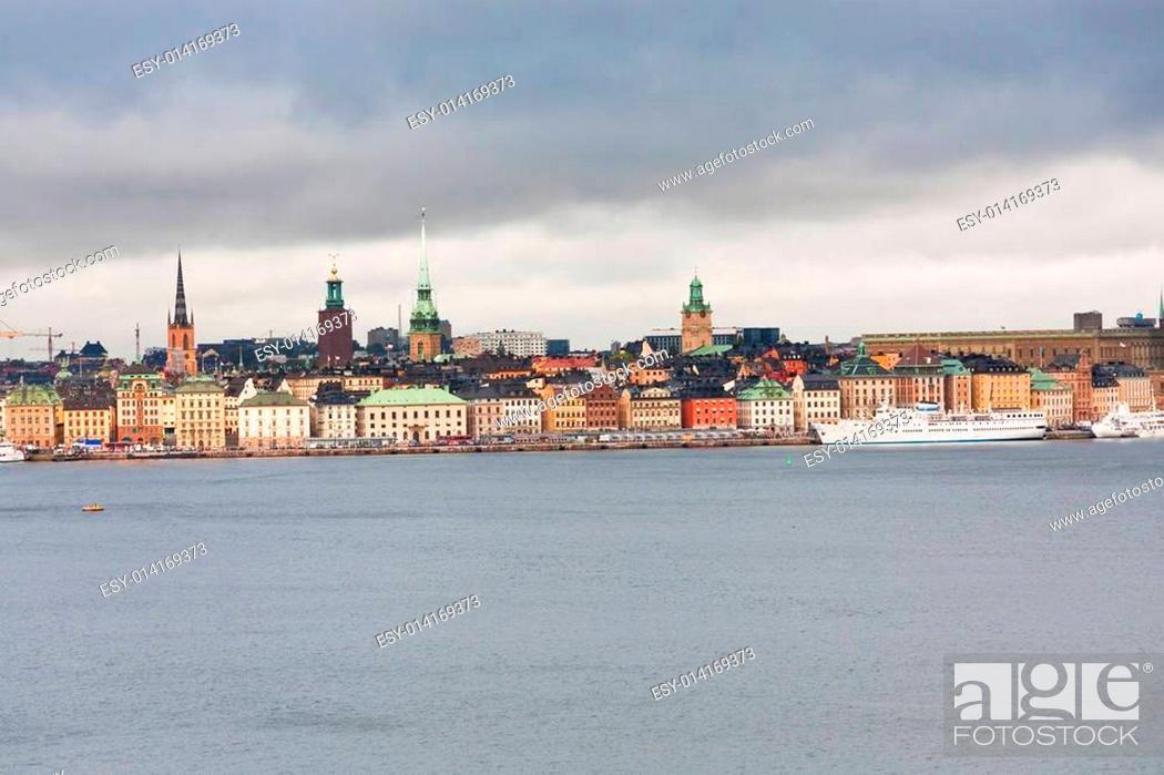Stock Photo: view on Gamla Stan, Stockholm.