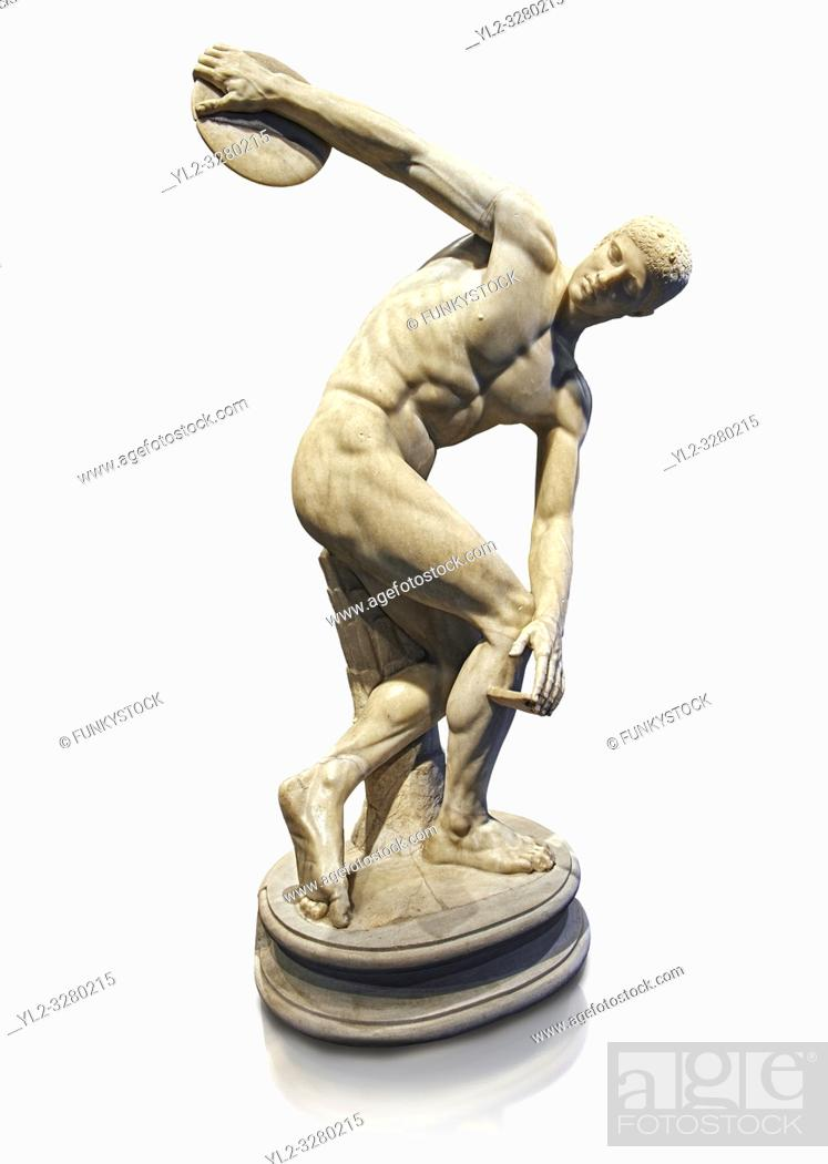 Imagen: Roman sculpture of a Discus Thrower, Paros marble made in the mid 2nd cent AD excavated from the Villa Palombara, Esquilino, Rome.