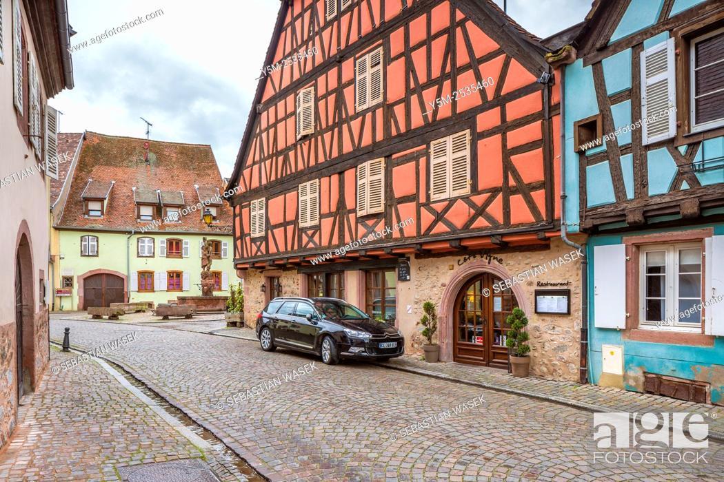 Imagen: Kientzheim, Haut-Rhin, Alsace, France, Europe.