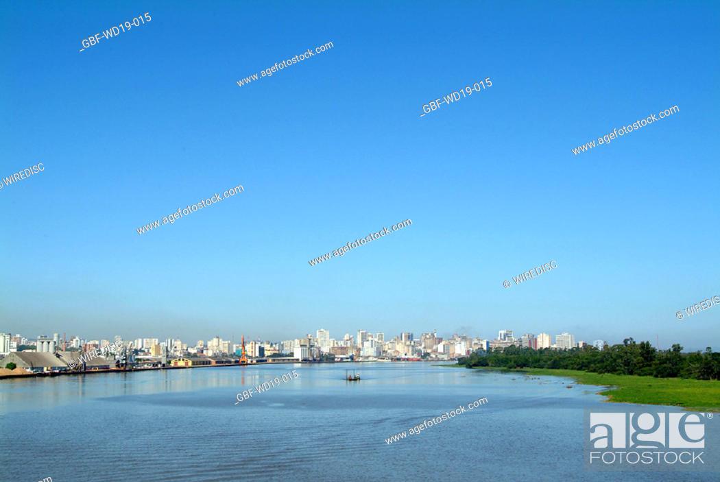 Stock Photo: Rio Guaiba, Rio Grande do Sul, Brazil.