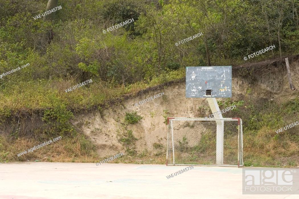Stock Photo: basketball board, basketball ground.
