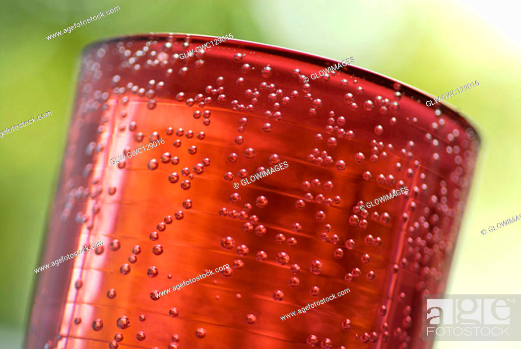 Stock Photo: Close-up of a glass full of soda.