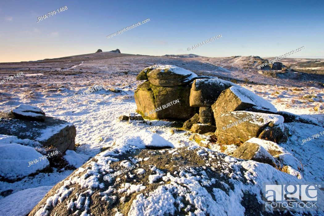 Stock Photo: Haytor viewed from Holwell Tor, Dartmoor National Park, Devon, England, United Kingdom, Europe.
