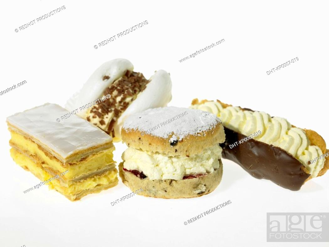 Stock Photo: Assorted Cream Cakes.